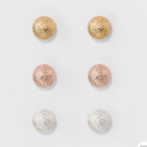 Stud Earring 3 Count NWT